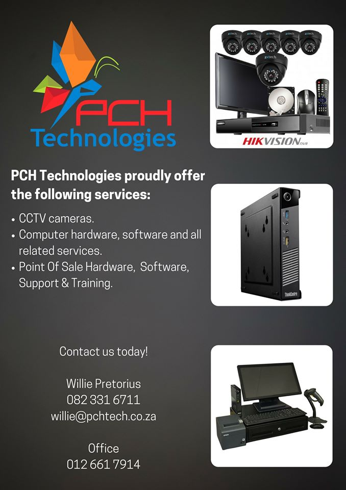 PCH Technologies PROUDLY offer the following services!