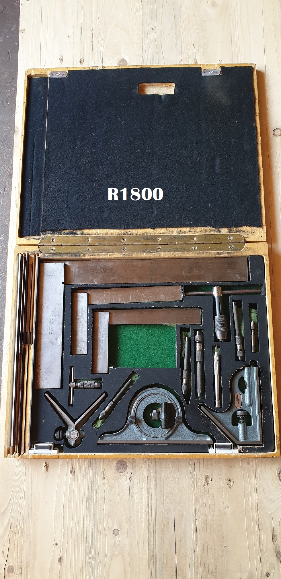 Set of 2 Rabone Chesterman Squares 1 x Moore and Wright No 400 Square Eclipse No 123 Pin Vice Set and a Mitutoyo Combination Square Set