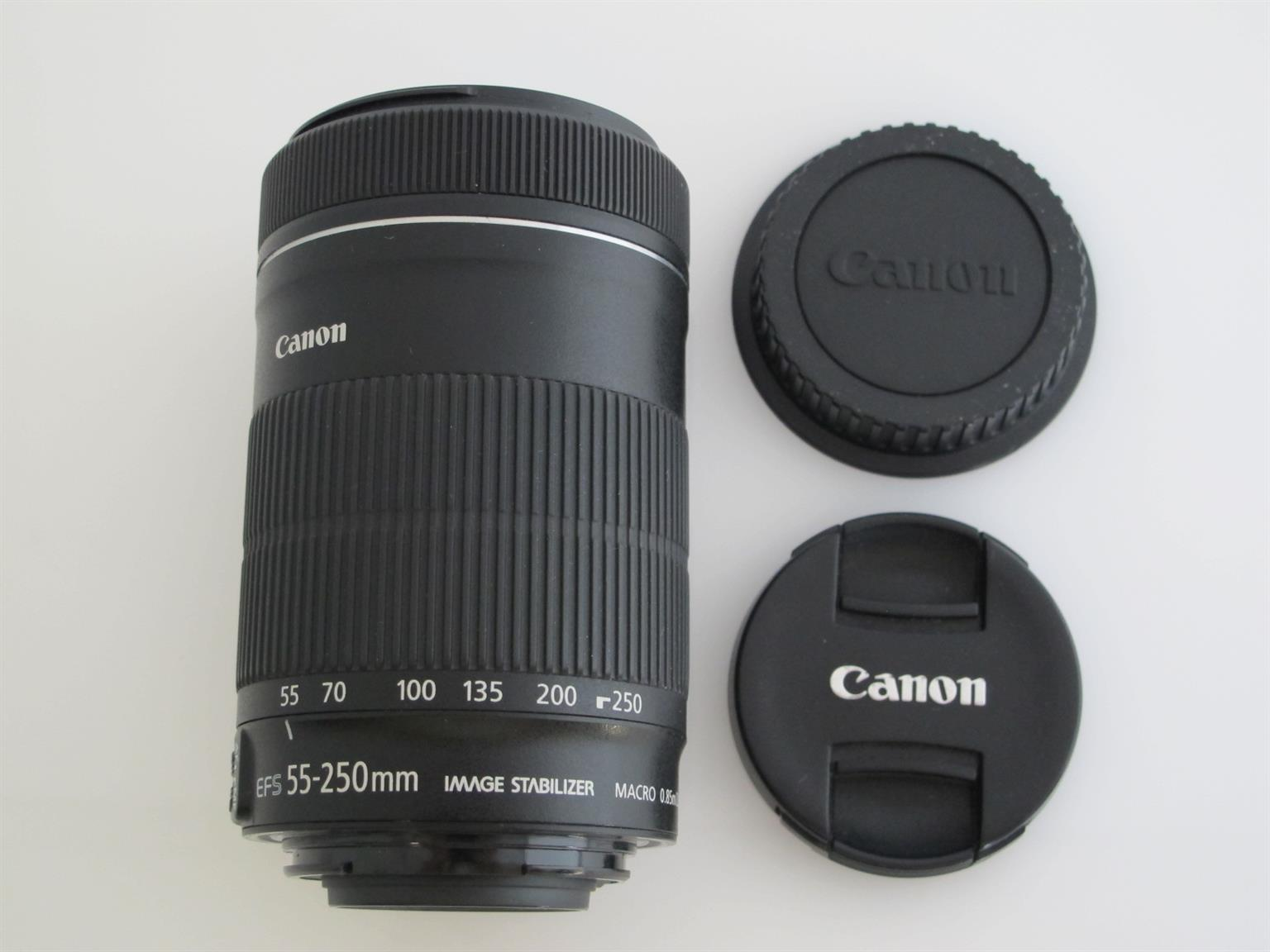 Canon EF-S 55-250mm f/4-5.6 IS STM Lens like new