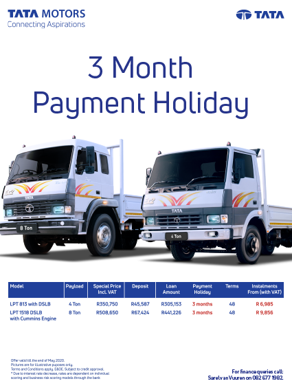 Tata's 3 Month Payment Holiday