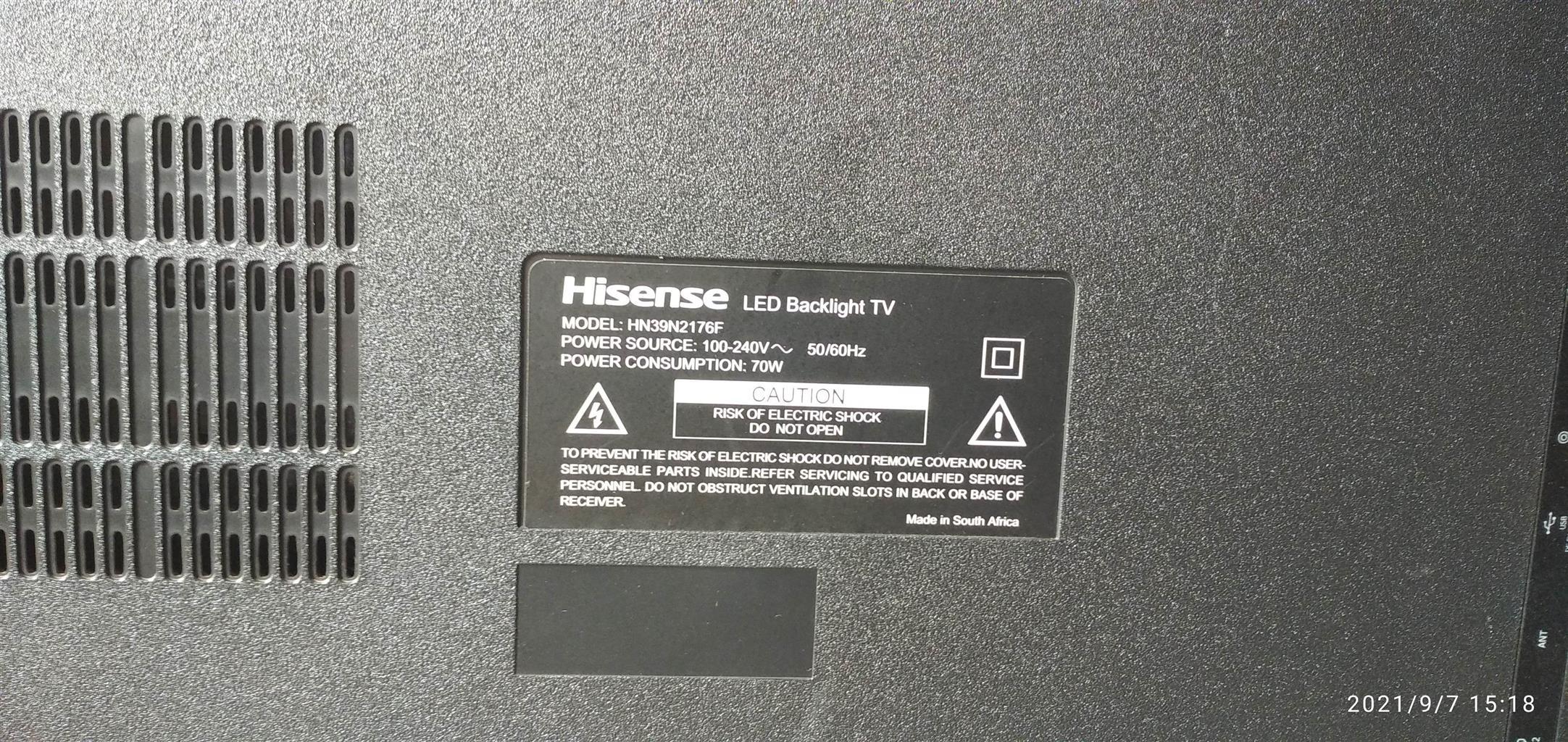 TV - Hisense 39IN FHD LED TV HN39N2176F