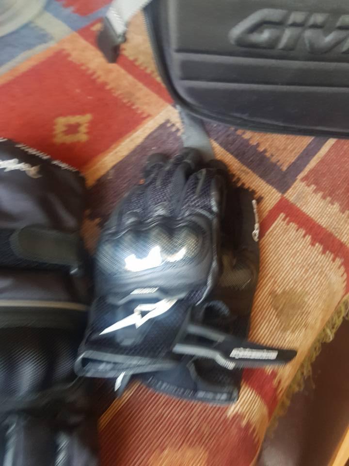 Smaller biker's gloves for sale