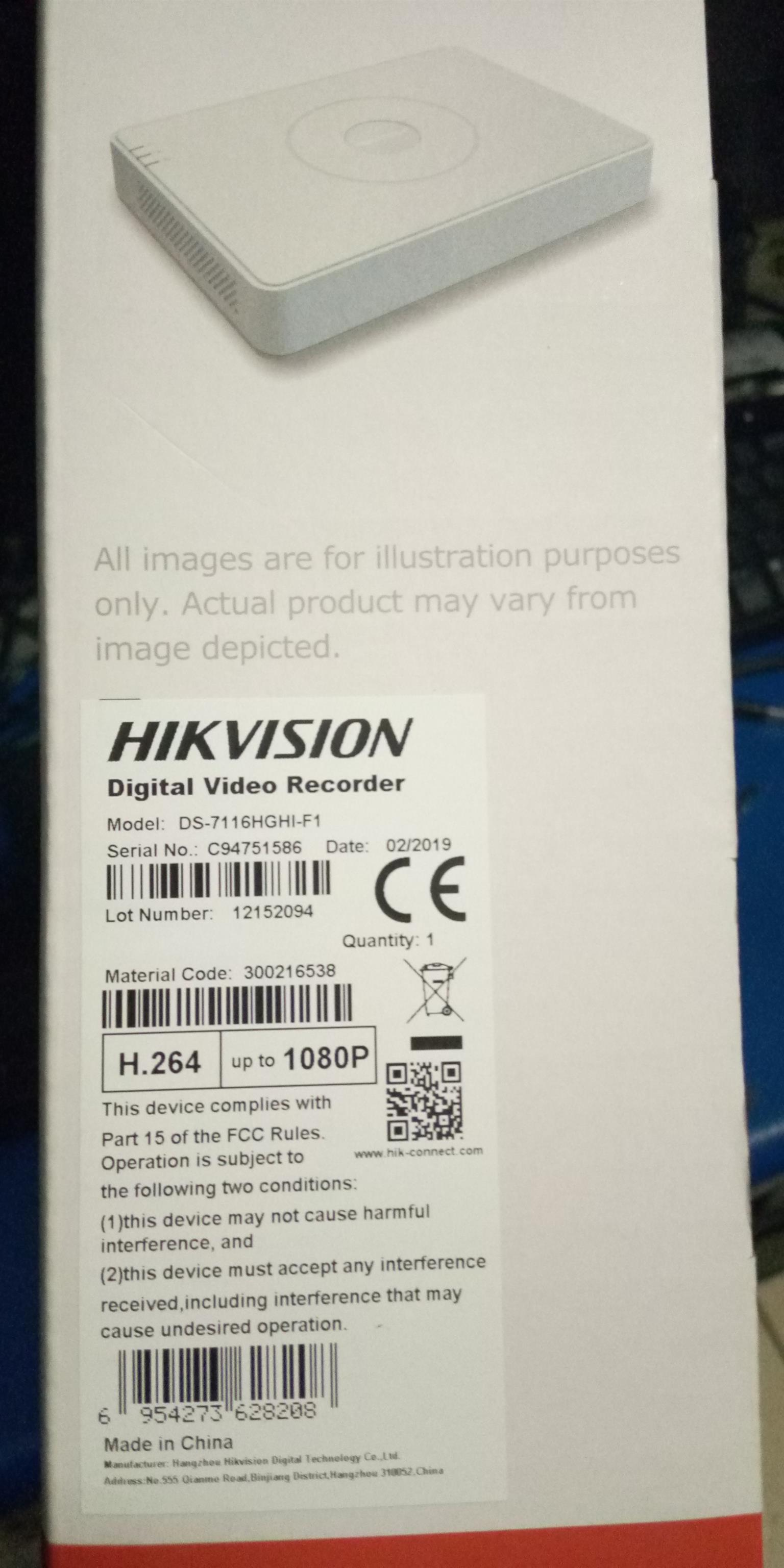 Hikvision 16-Channel TURBO HD 720P / 1080P Embedded DVR. H.264 (DS-711