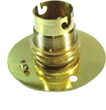 Brass B22 Bayonet Clip/Cap Light Bulb Holders/Sockets/Bases. Brand New Product.