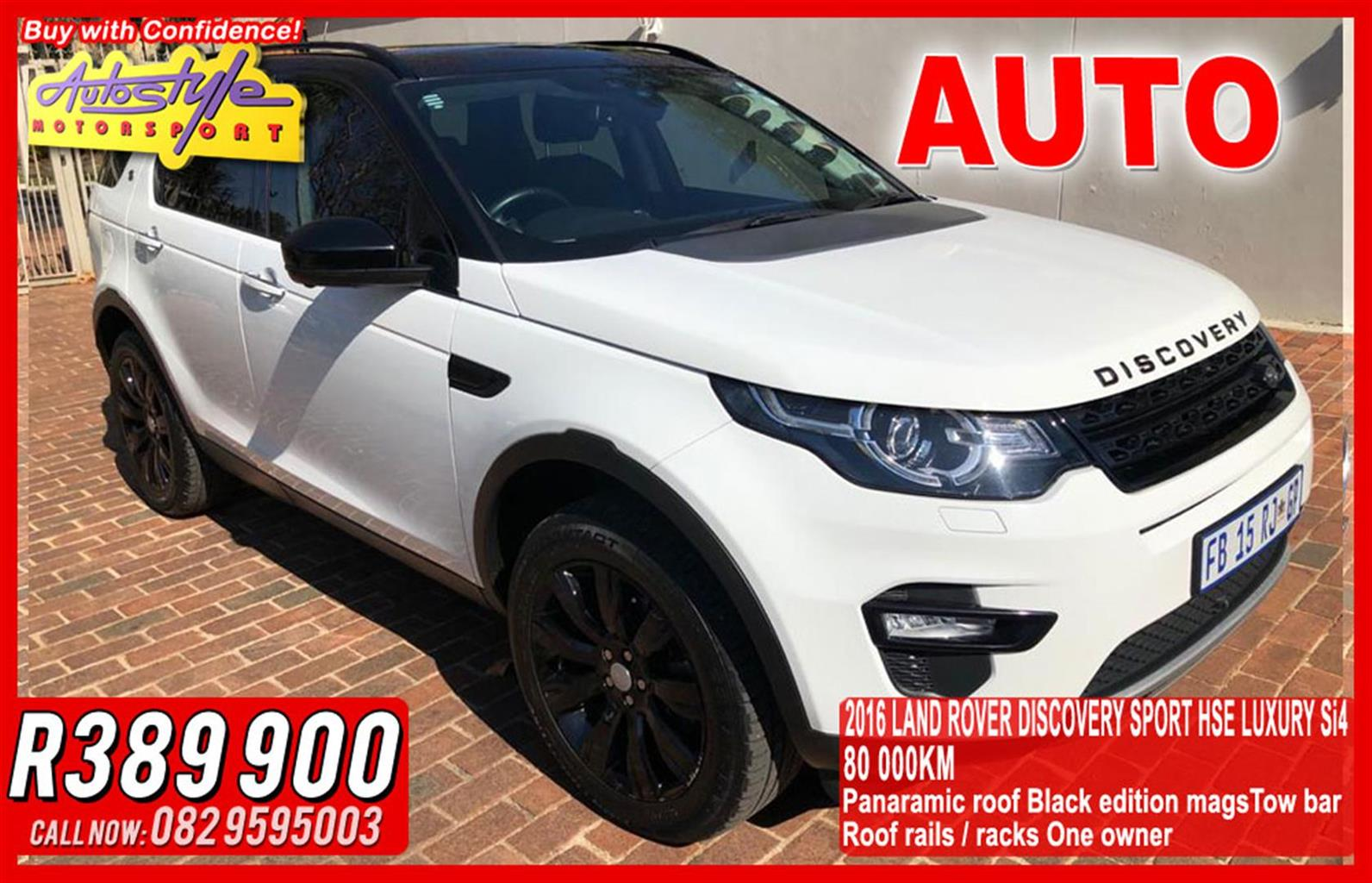 2016 Land Rover Discovery Sport DISCOVERY SPORT 2.0 Si4 HSE LUX