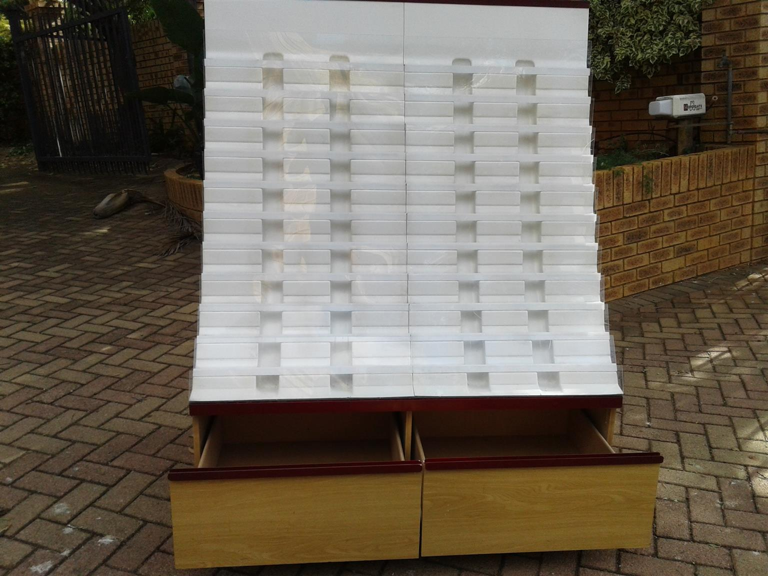 2 x Wooden Greeting Cards Cabinets