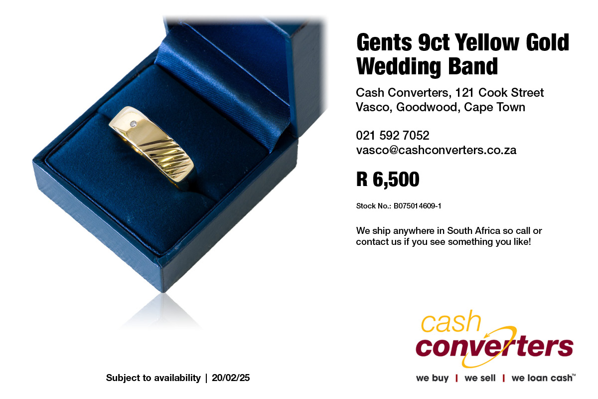 Gents 9ct Yellow Gold Wedding Band