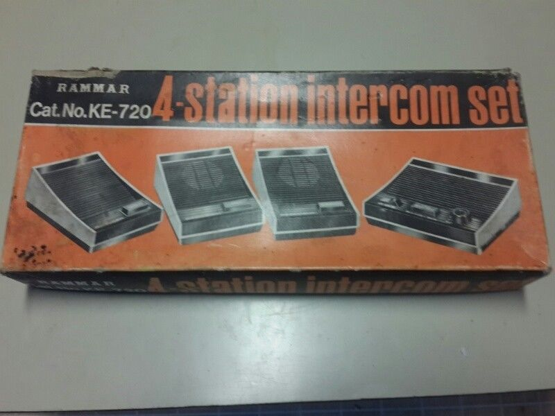 Intercom set of 4 in box as new never been used/installed excellent condition