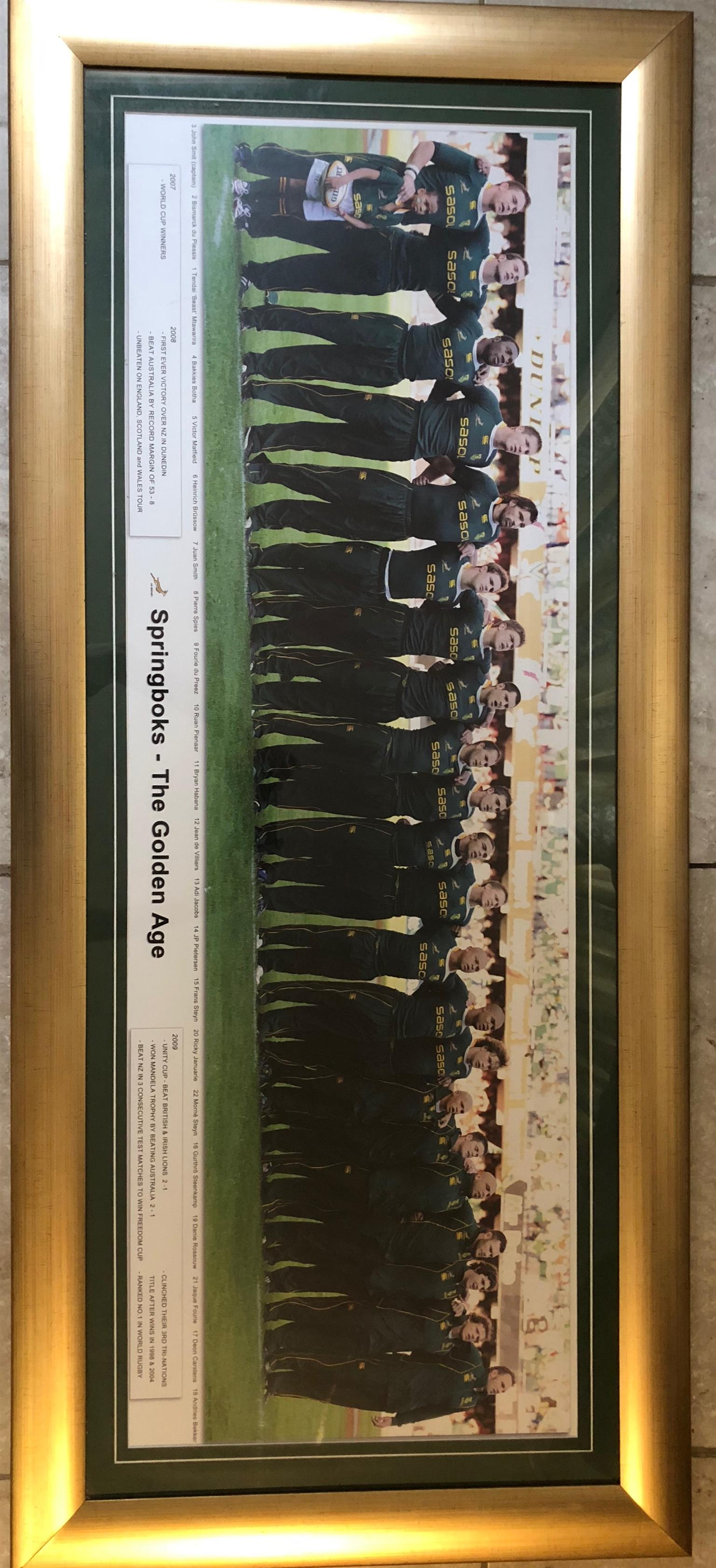 Springbok Team Rugby Memorabilia