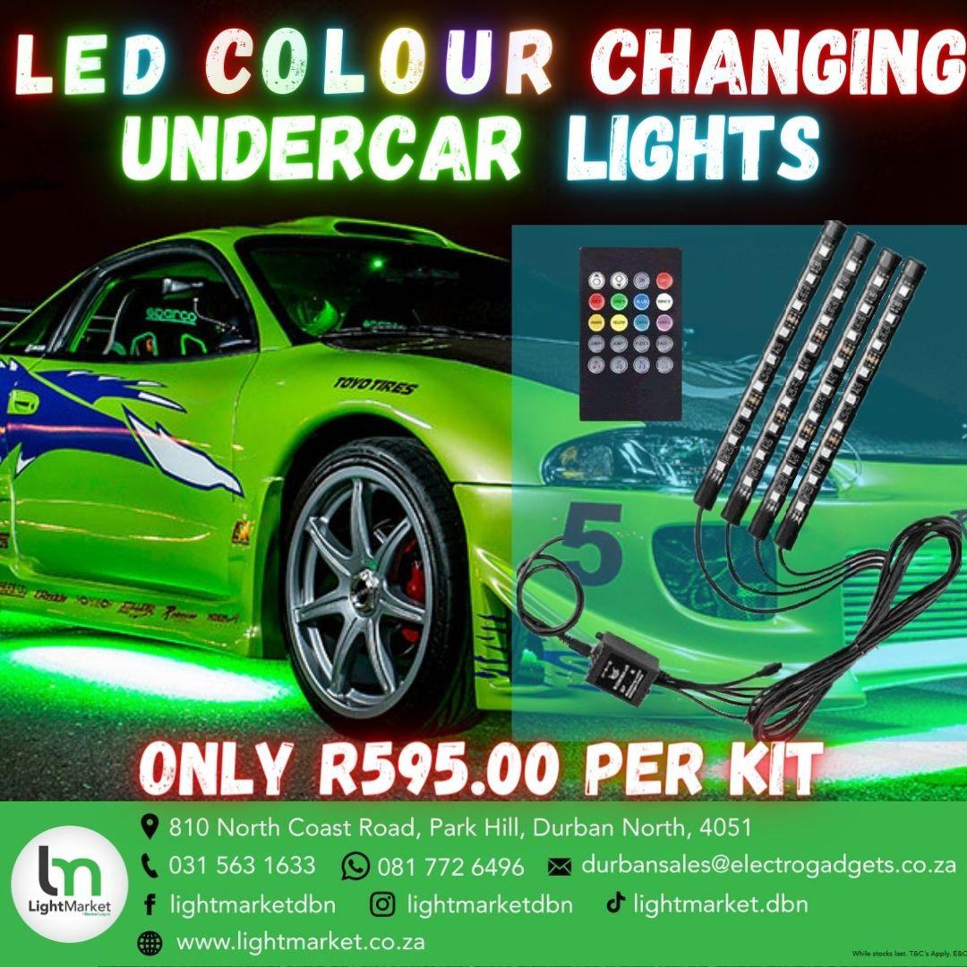 LED colour changing undercar lights -