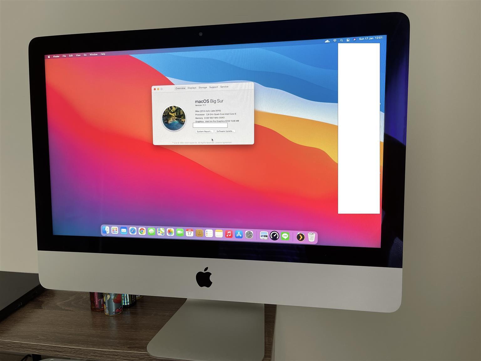 "2015 Apple iMac 21"" Core i5 2.8GHz Quad Core, 8GB RAM"