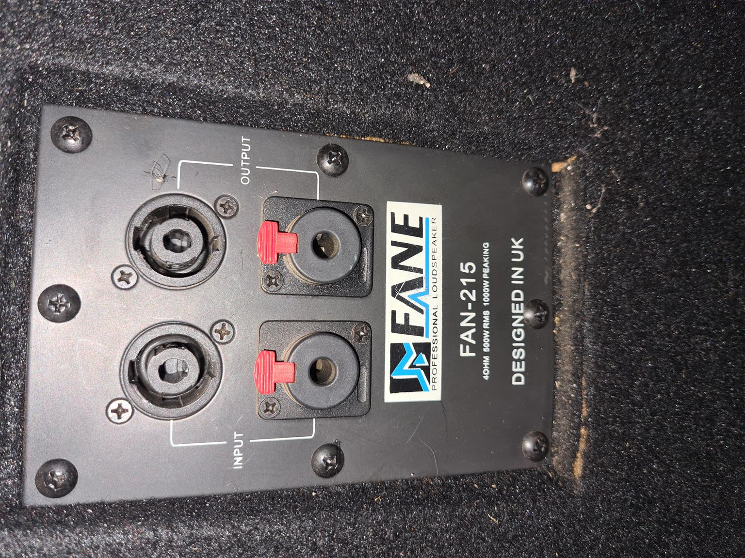 500W  Rms Fane dual 15inch speakers