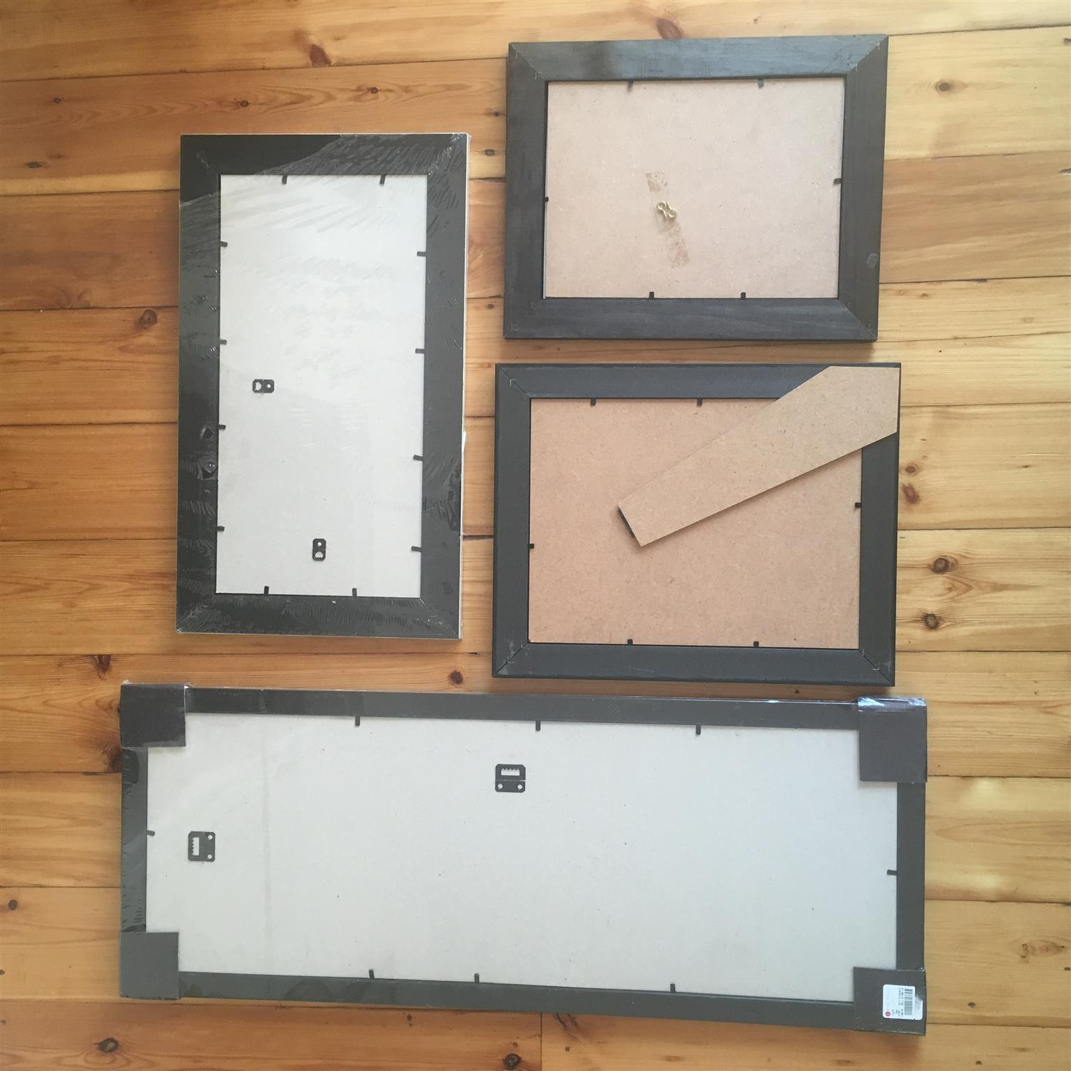 Variety of photo frames (2x NEW in original packaging and 2x used) - R300 for the 4 frames