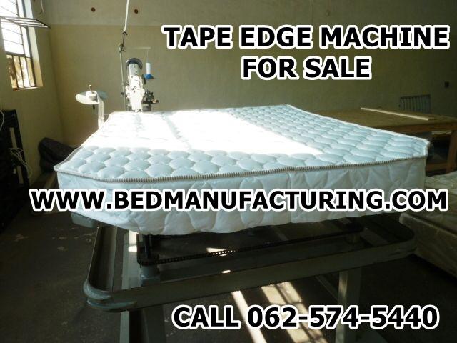 Bed Manufacturing Machine tape edge