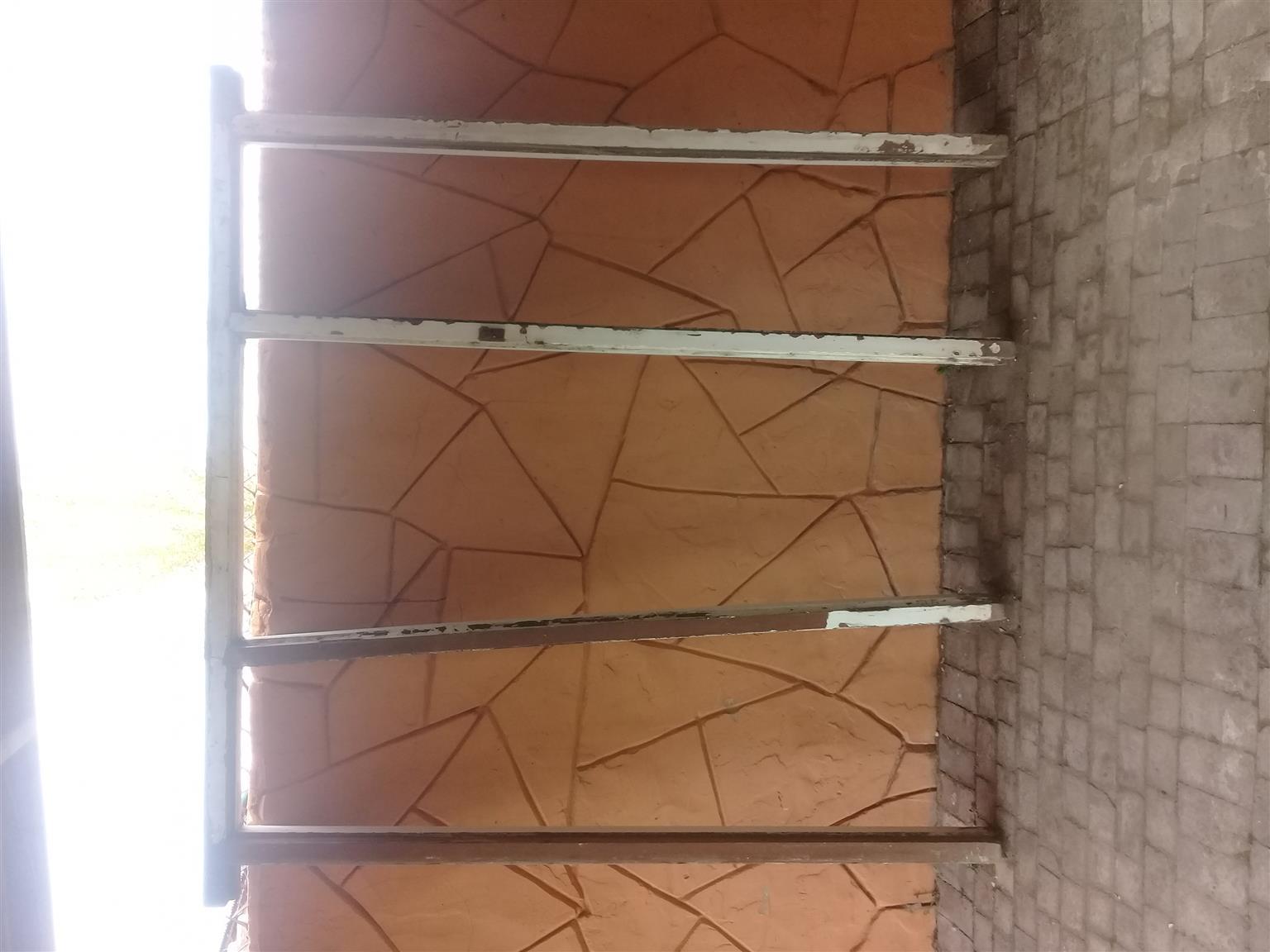 Wooden door frame and door