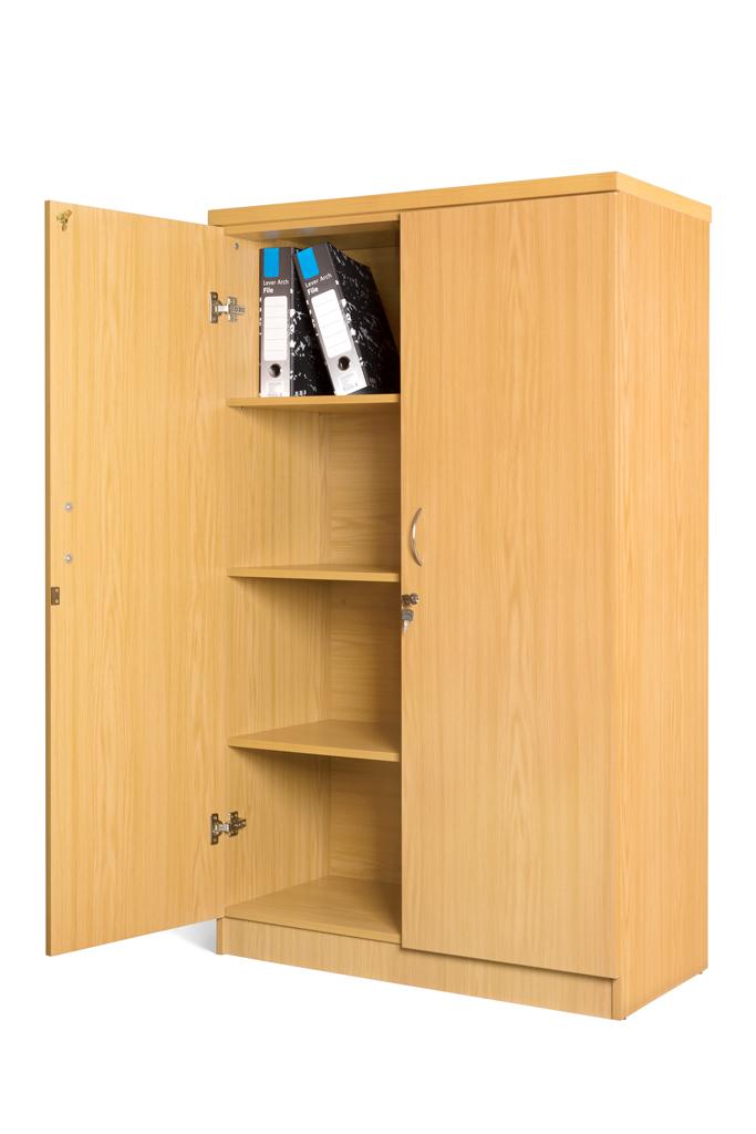 Stationery Cabinet with 3 Adjustable shelves! Natural Oak.