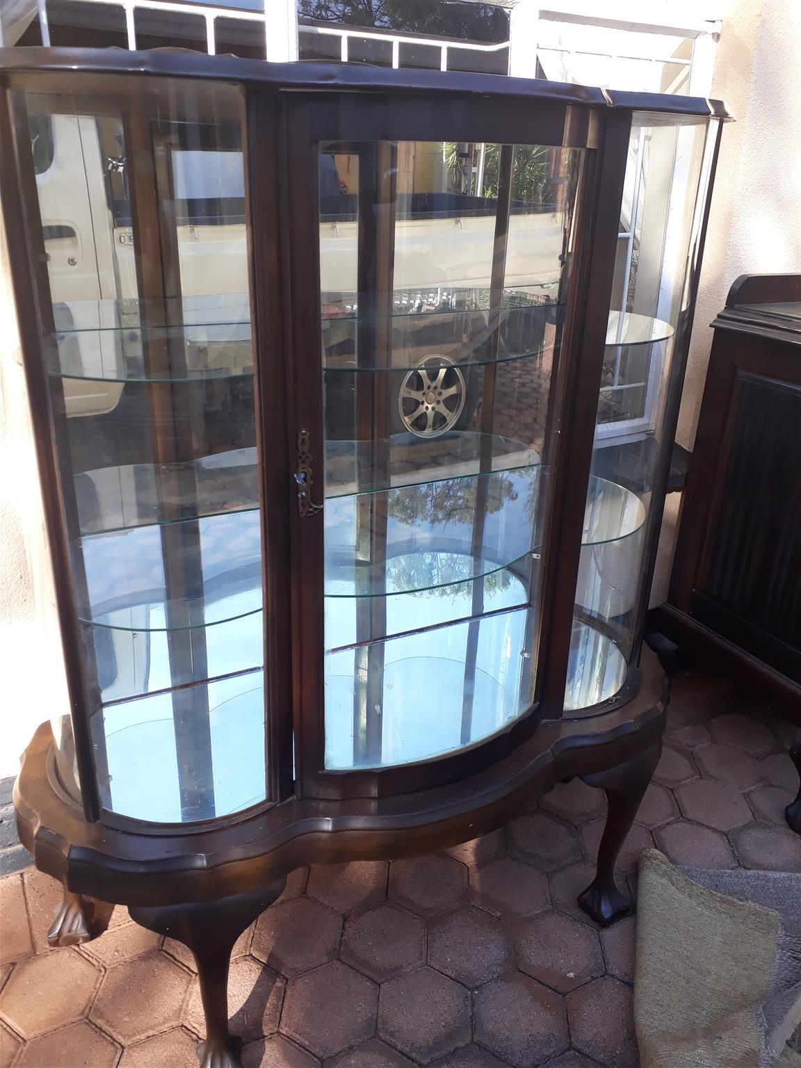 Imbuia Ball and Claw Display case