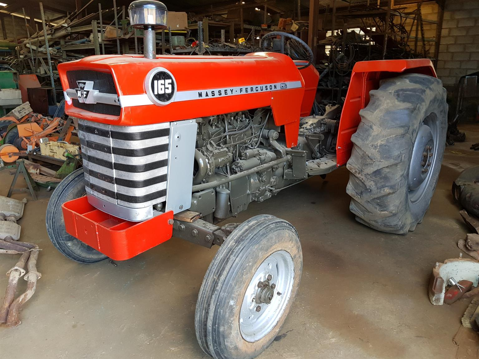 Tractors  available. Blue,  Green,  Orange,  and  Red.  Popular  makes and models. From R35,000