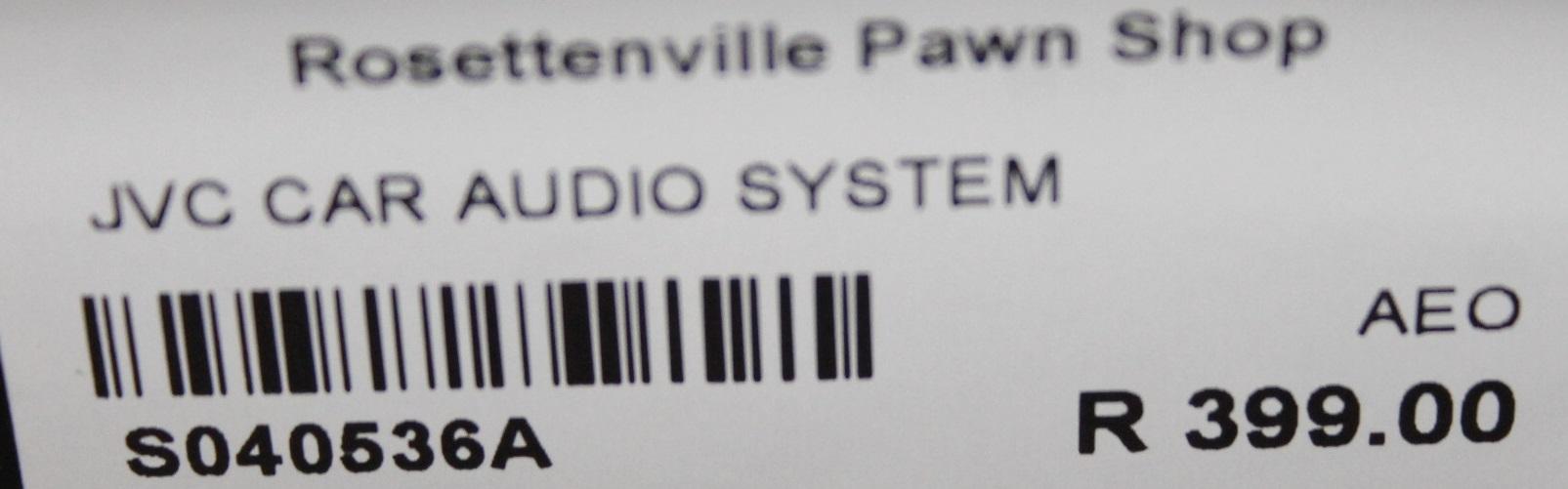 Jvc car audio system S040536A #Rosettenvillepawnshop