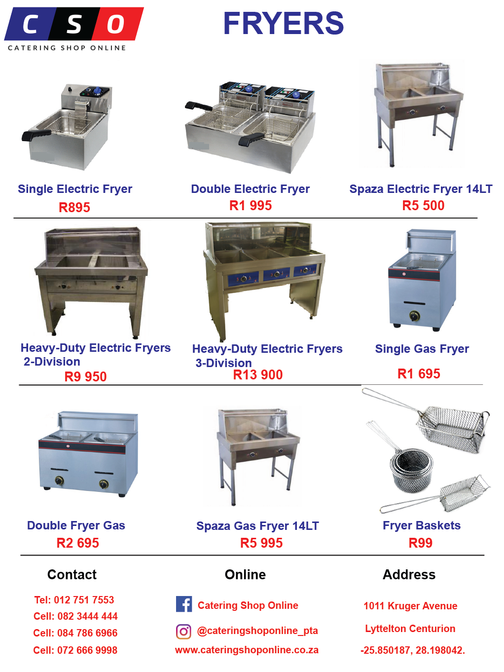 Fryers Available Electric & Gas For Sale
