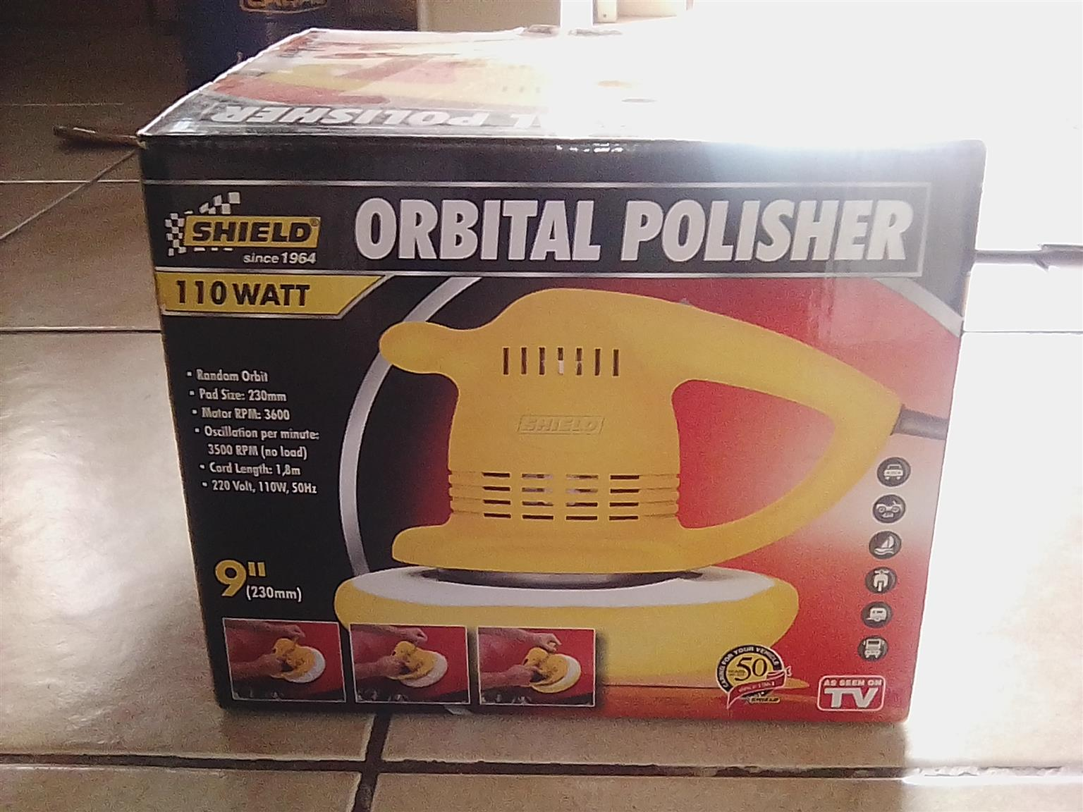 Orbital car polisher and accessories
