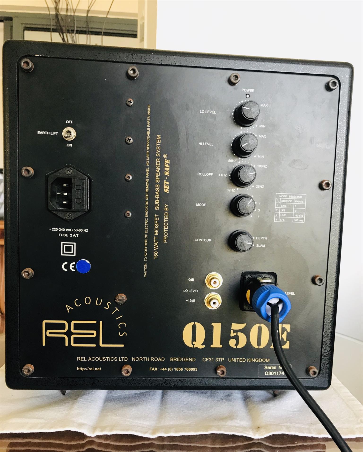 REL Acoustics Q150E Powered Subwoofer | Junk Mail