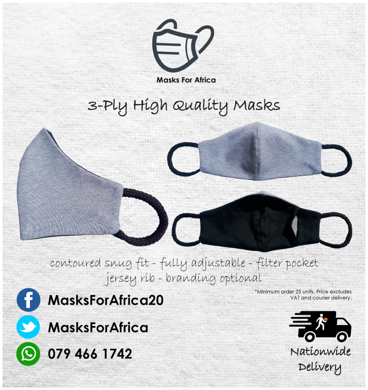 Quality 3-PLY Cloth Face Masks