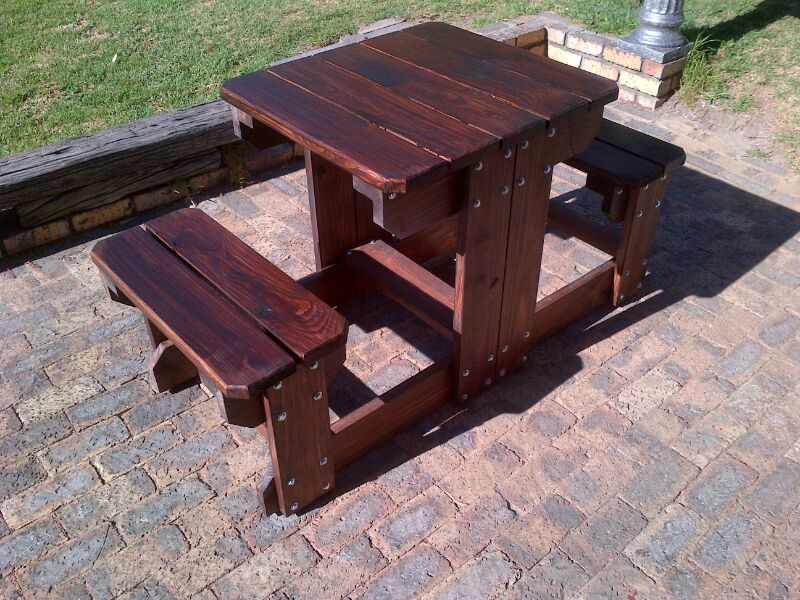 OUTDOOR / INDOOR BENCHES, DIAGONAL WINE STANDS - HIGH QUALITY WOOD AND WORKMENSHIP