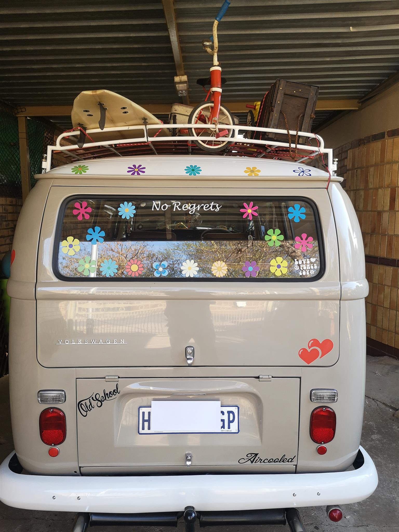 Classic vintage car hire: Matric Farewell, Wedding and special events Car Hire- Kombi Hippy style.
