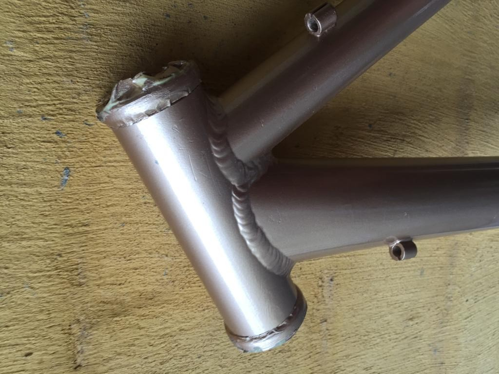 Resprayed Mountain bike frame ONLY - Perfect for that great custom  bicycle build project!