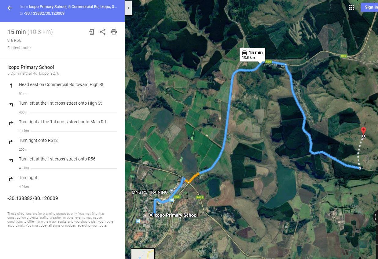 "73,3486ha of prime land available in Ixopo Farm ""Vaal Krans"" Farm no. 1035; Portion 27"