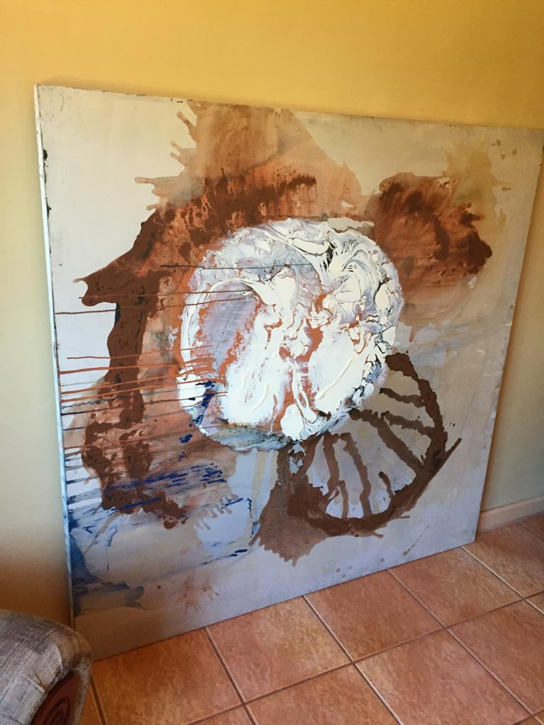 Large Oil on canvas Abstract art work - Ideal for a large wall/blank space