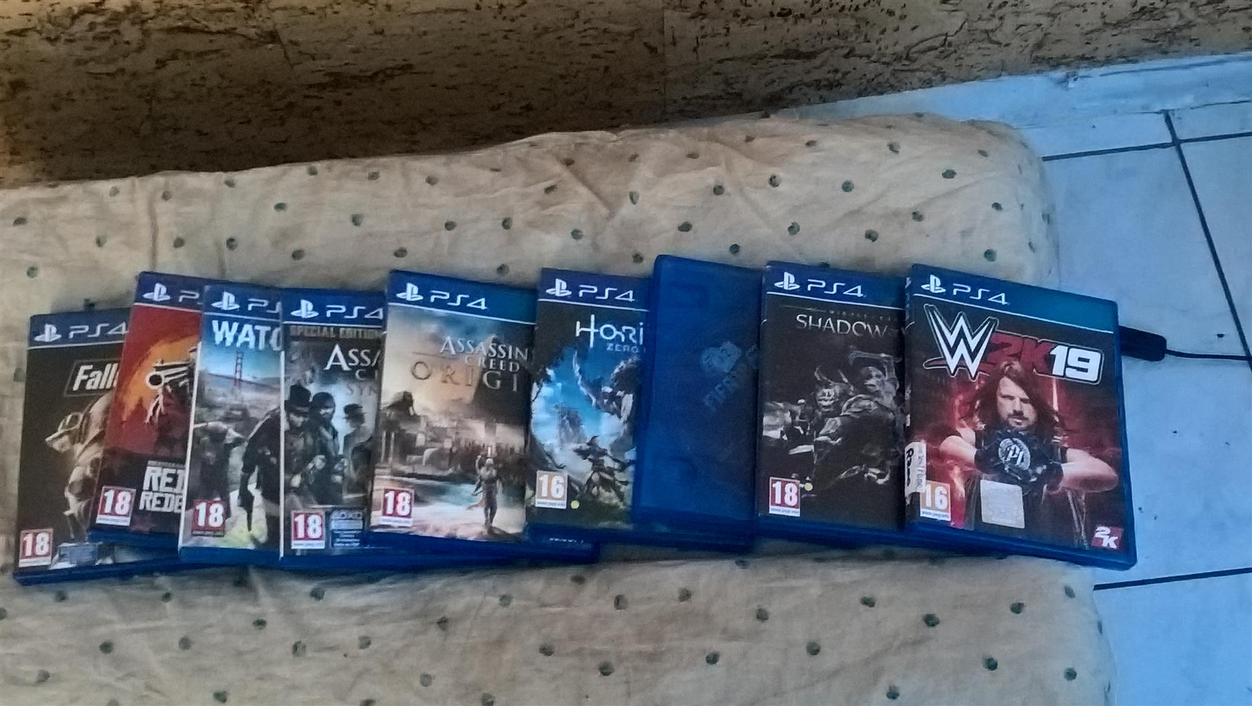 PS 4 + 9 GAMES to swap 4 Gaming Pc
