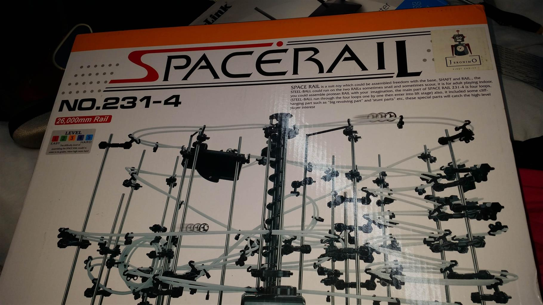 Unopened spacerail