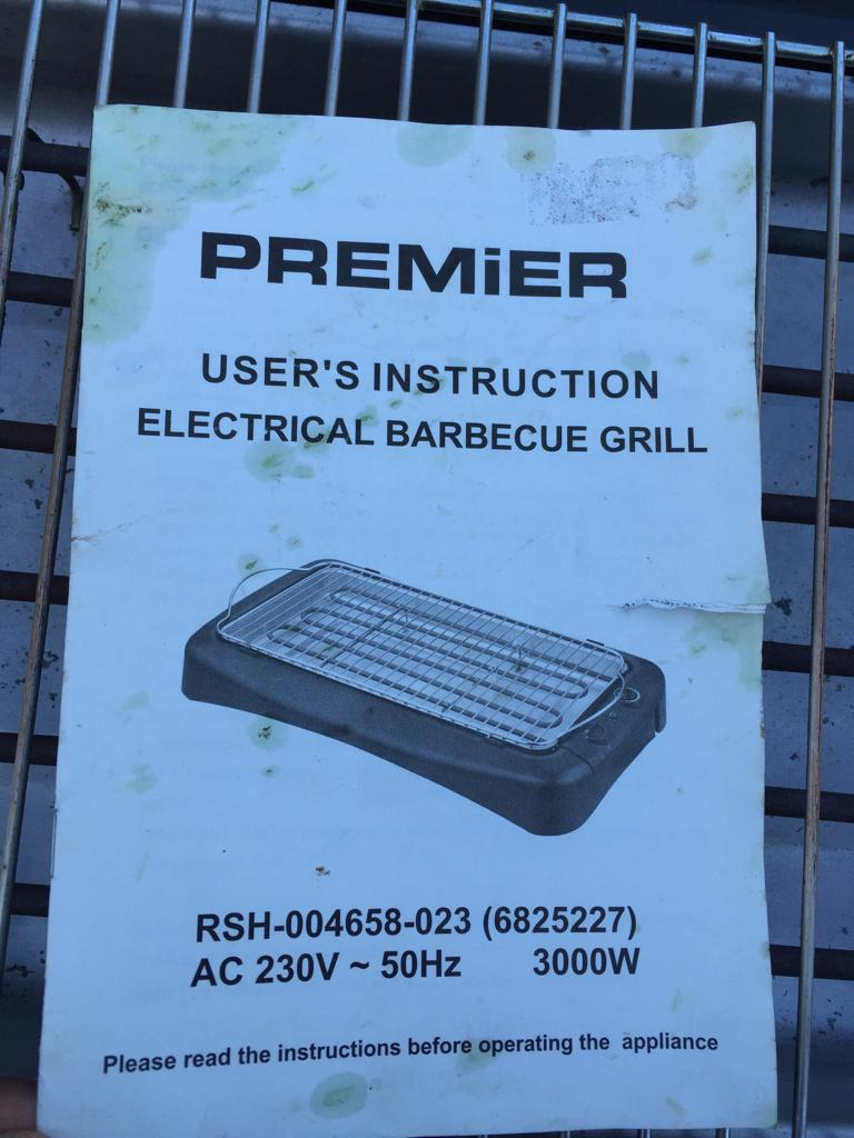 Premier Health Grill / braai - for a healthier alternative to frying!