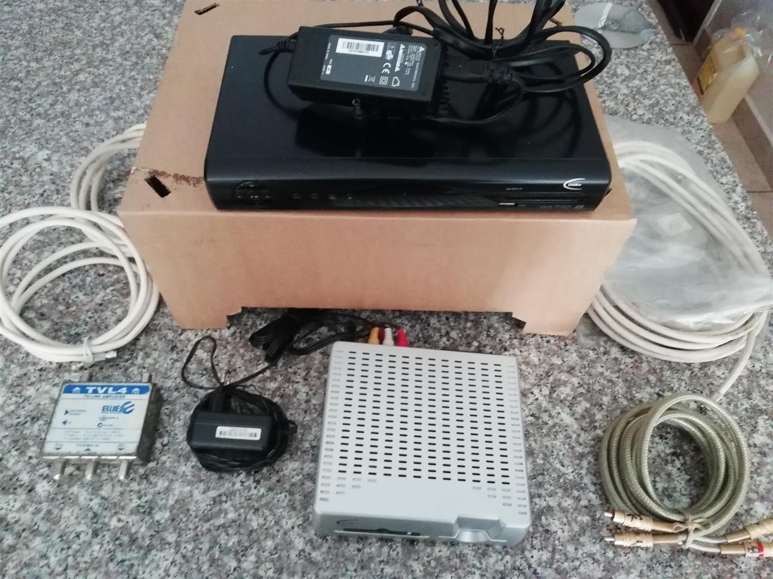 PVR 2 + extra decoder + TV-LINK box + wiring