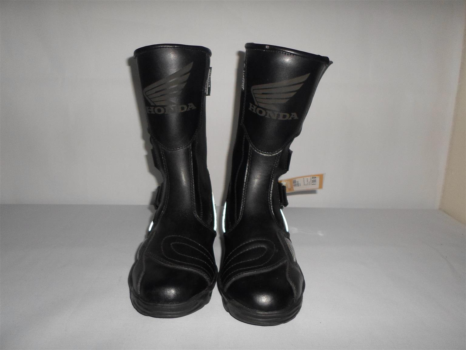 Size 40 Honda Leather Motorcycle Boots