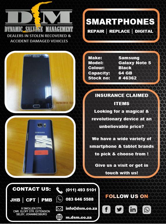 Samsung Galaxy Note 5 64GB - Black