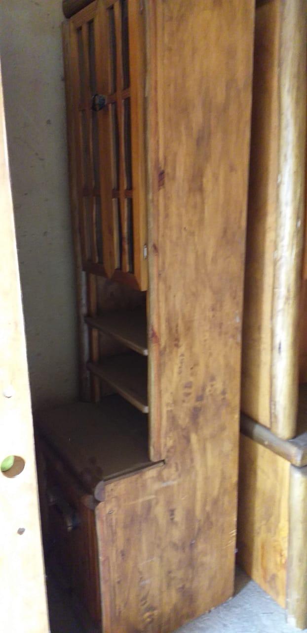 5 piece Wood log wall unit