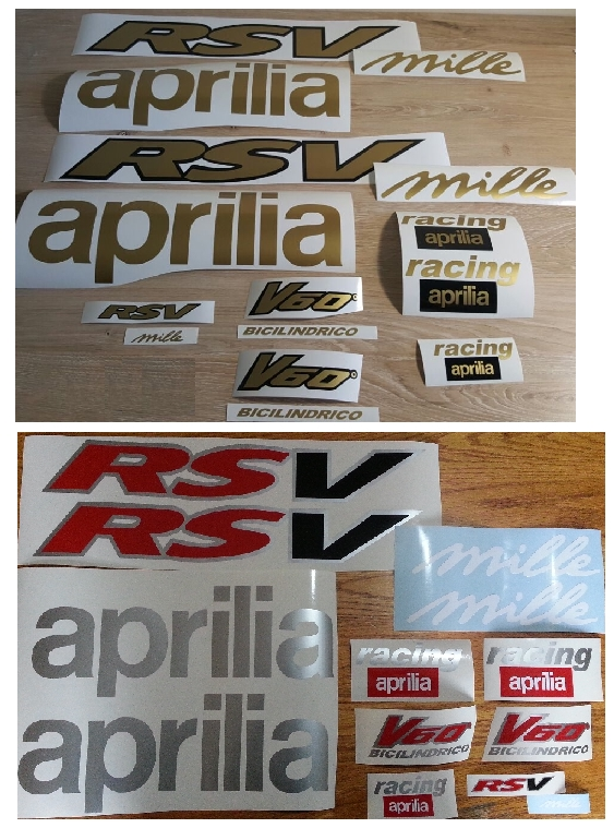 1999 Aprilia RSV 1000 Mille graphics stickers decal kits.
