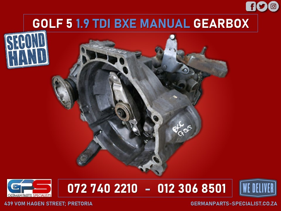 Volkswagen Golf 5 Used Manual Gearbox 1.9 TDI BXE