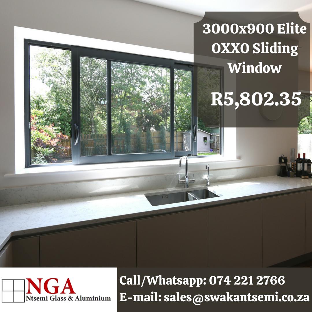 Elite Sliding Window | 4 Panel Double Slider | 3000x900