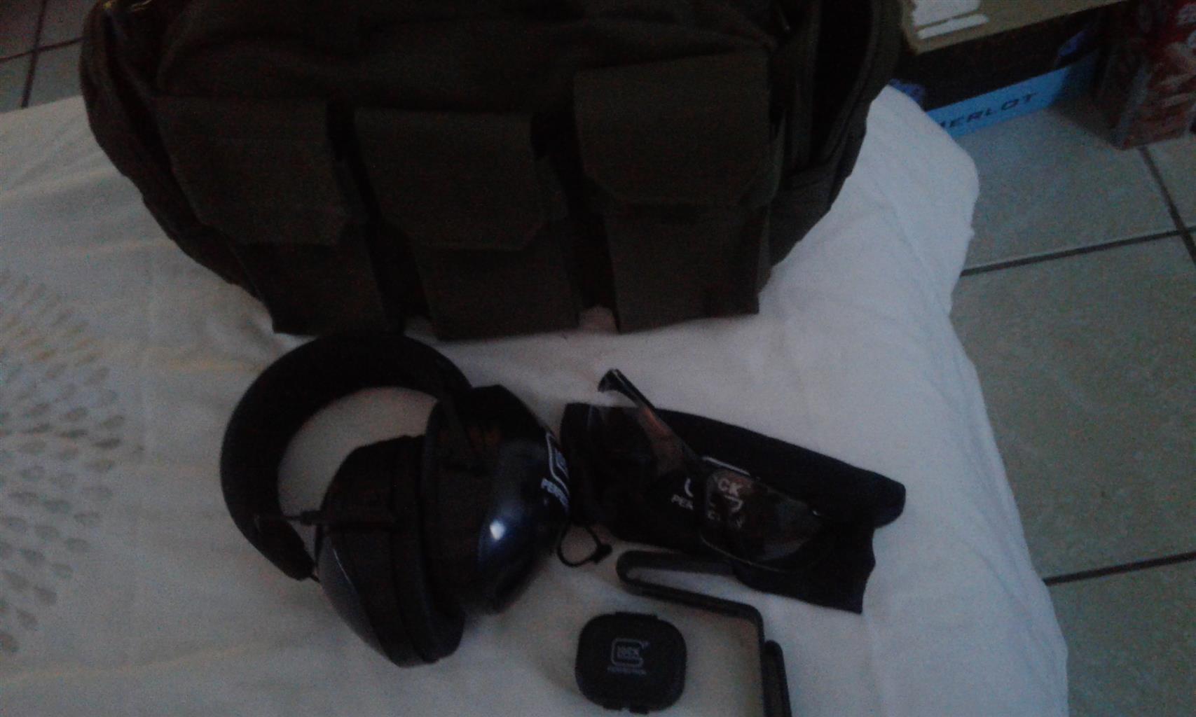 Glock protective equipment and shooting range bag