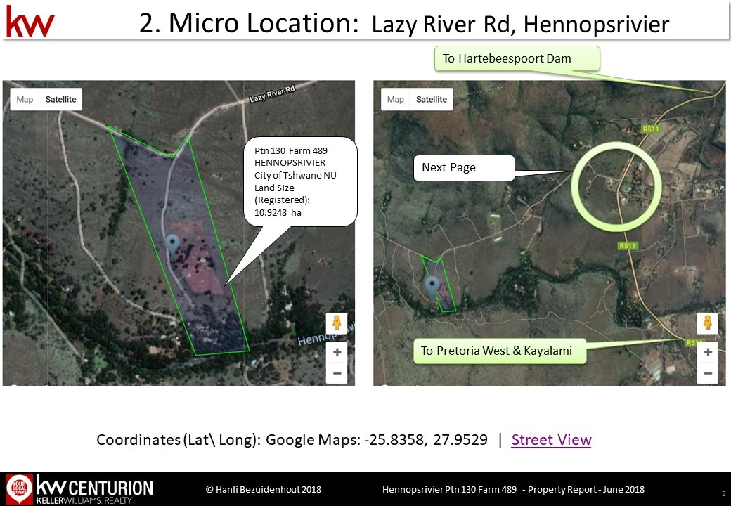 Small Holding For Sale in Hennops River