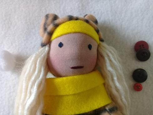 Handmade soft rag dolls/Tiger/ cute one of a kind toy