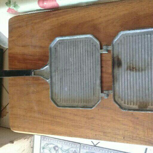 old aluminium griller