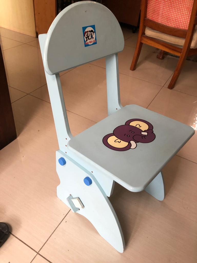 Adjustable kiddies chair - grows with your child.
