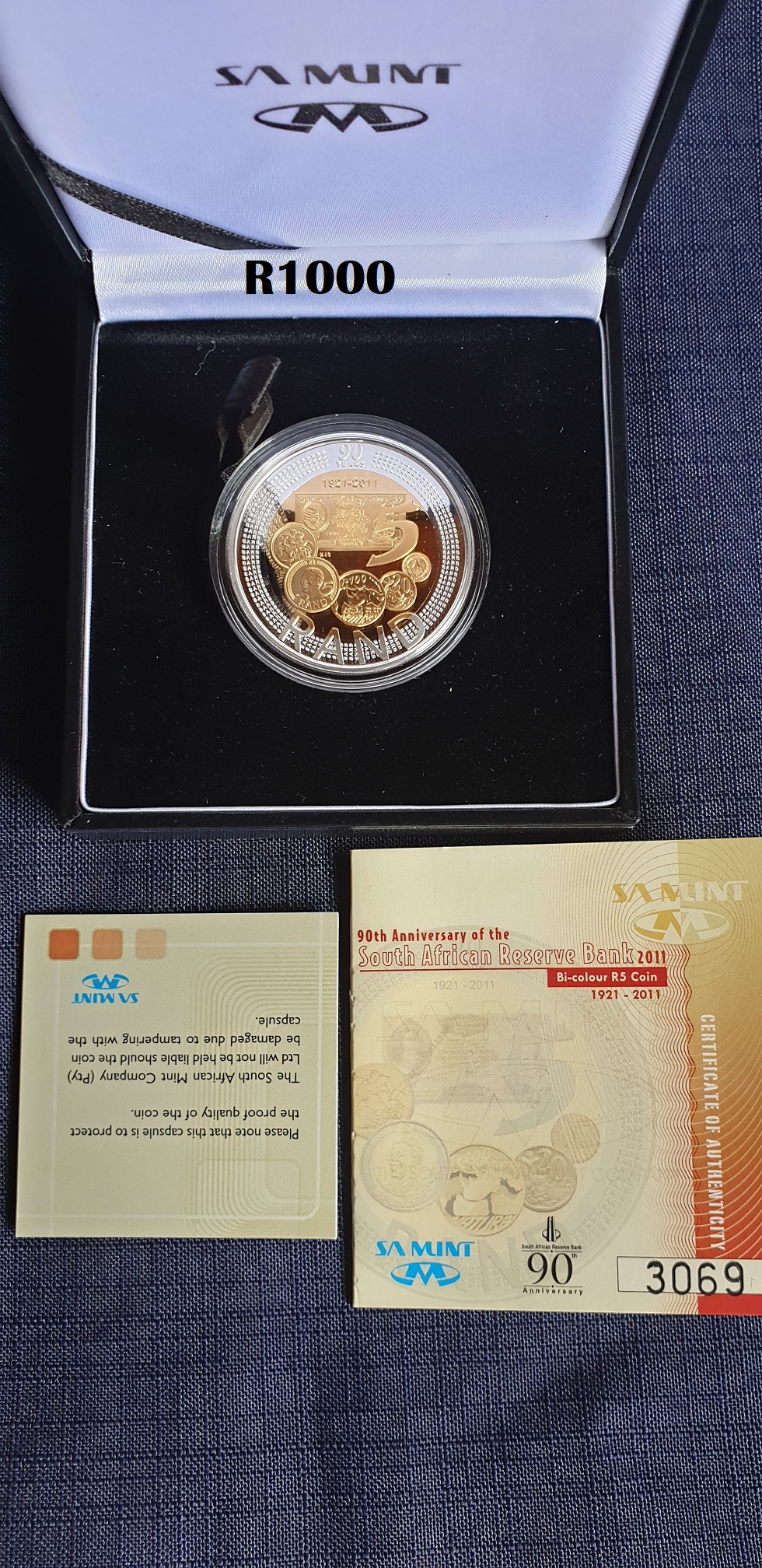 90th Anniversary of the South African Reserve Bank 2011 Bi-colour R5 Coin (Limited Edition- 10 000)