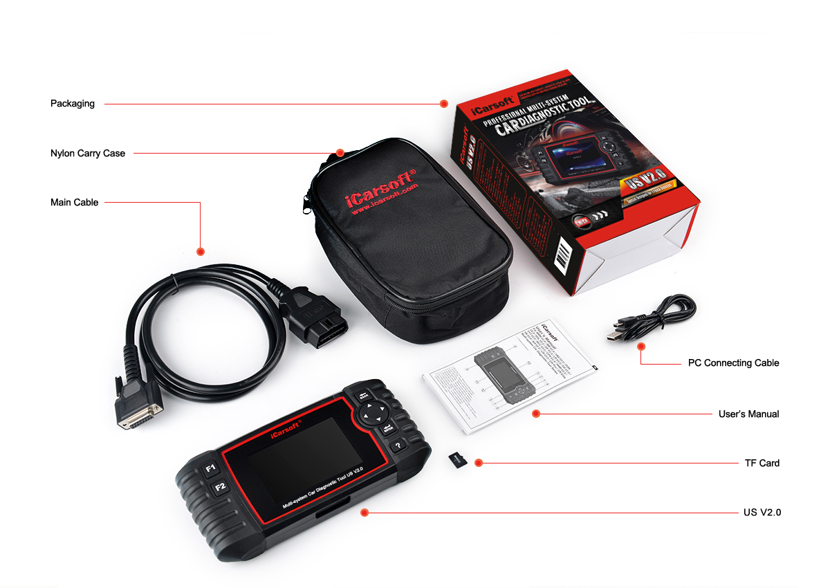ICARSOFT US V2.0 FOR FORD (US FORD, EU FORD AND AU FORD)/ GM / CHRYSLER /JEEP / HOLDEN+OILRESET+EPB+BMS+DPF+SAS+ETC+OBDII