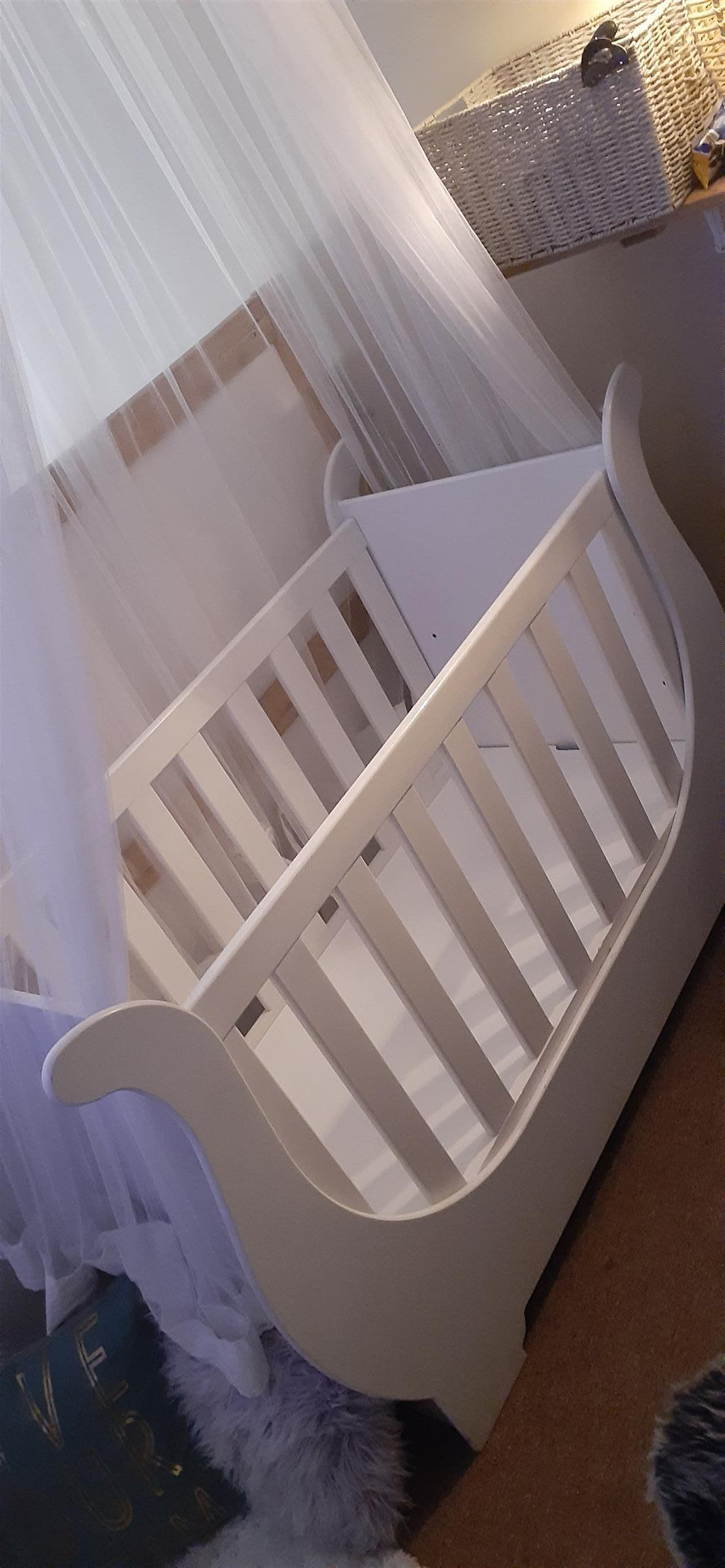 Big White Wooden Cot For Sale